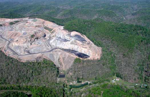 Mountaintop Removal and Small Community in W. Va. Photograph by Vivian Stockman