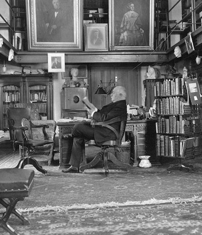 Horace Howard Furness in his Library