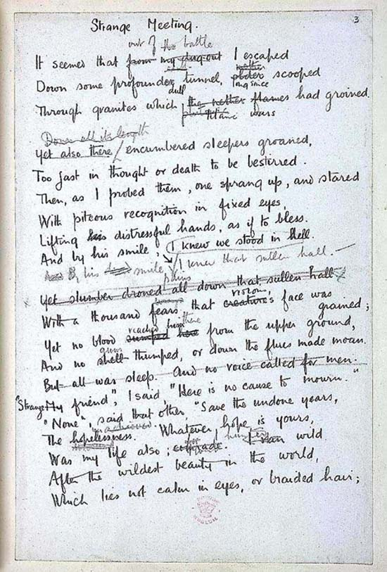Wilfred owen mental cases